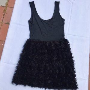 Zara Dresses - Zara Basic Black Tulle Roses Cocktail Dress